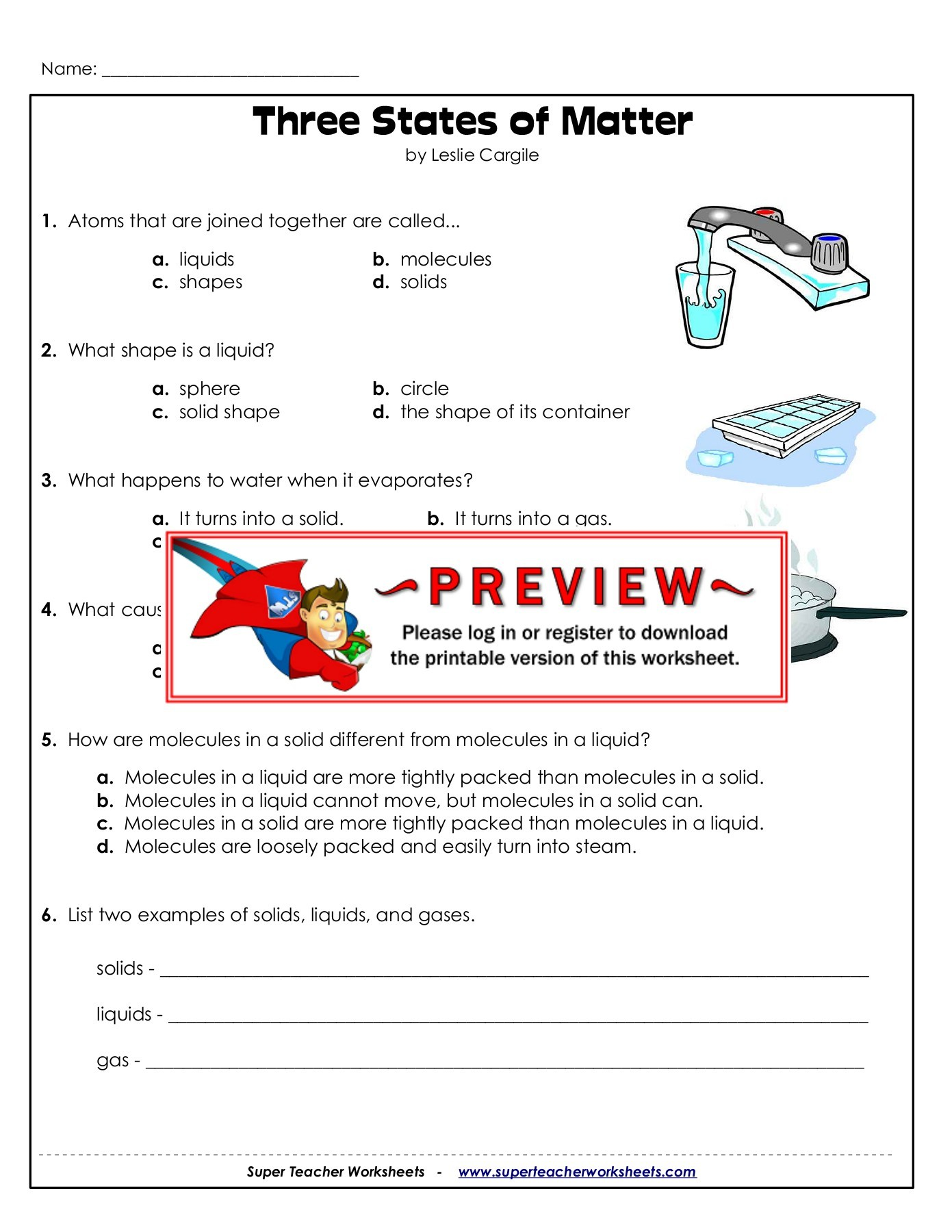 hight resolution of Name: Three States of Matter - Super Teacher Worksheets Pages 1 - 3 - Flip  PDF Download   FlipHTML5