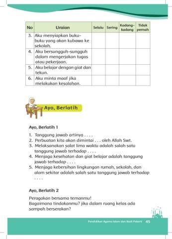 kunci jawaban pendidikan agama islam pai kelas 4 kunci jawaban pai kelas 4 di semester i terdiri dari 5 pokok materi pelajaran 5 pokok materi selanjutnya pada semester 2. Buku Kelas 3 Pai Dan Budi Pekertik Pages 51 100 Flip Pdf Download Fliphtml5
