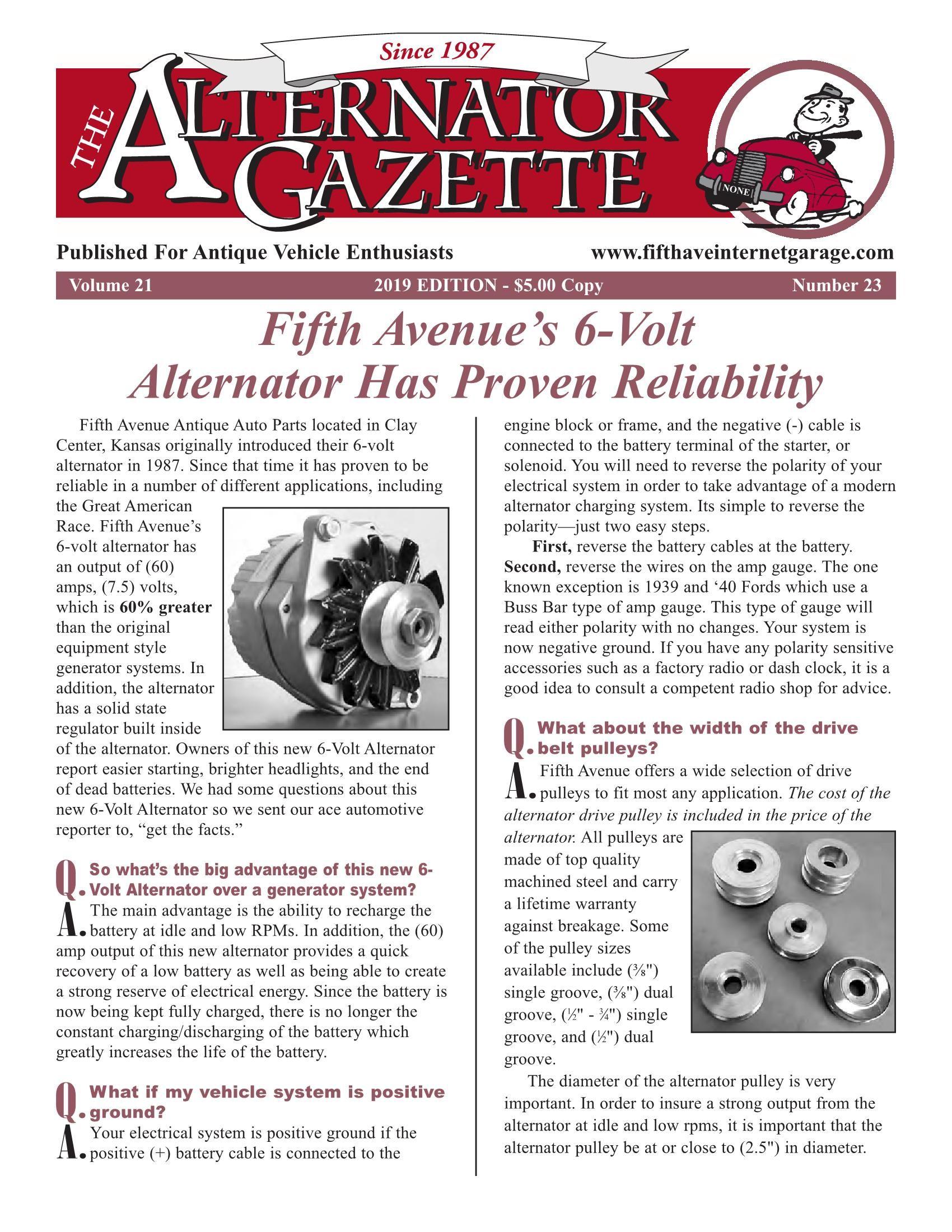 hight resolution of alternator gazette