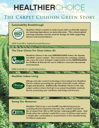 Healthier Choice Green Carpet Pad