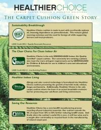 Healthier Choice Green Carpet Pad