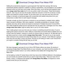 array omega mass flow meter conoshoer com pages 1 11 text version rh  [ 1273 x 1800 Pixel ]