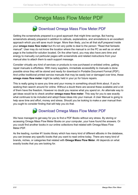medium resolution of  array omega mass flow meter conoshoer com pages 1 11 text version rh