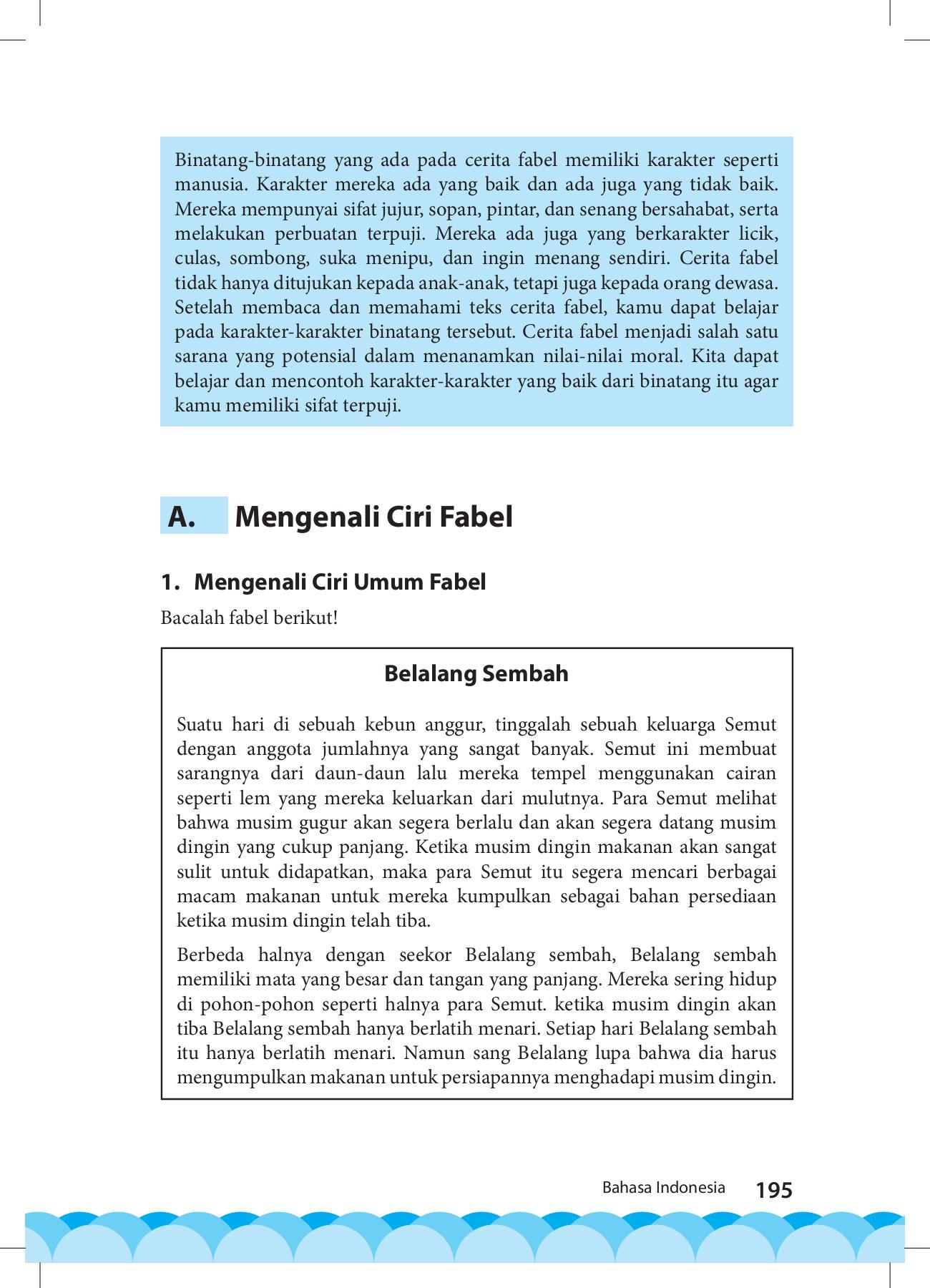 Mengenali Ciri Umum Fabel : mengenali, fabel, KelasVII, Bahasa, Indonesia, Pages, Download, FlipHTML5