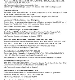 hj75 alternator wiring diagram wiring librarytoyota landcruiser hj75 printable manual pages 1 3 text version fliphtml5 [ 1273 x 1800 Pixel ]