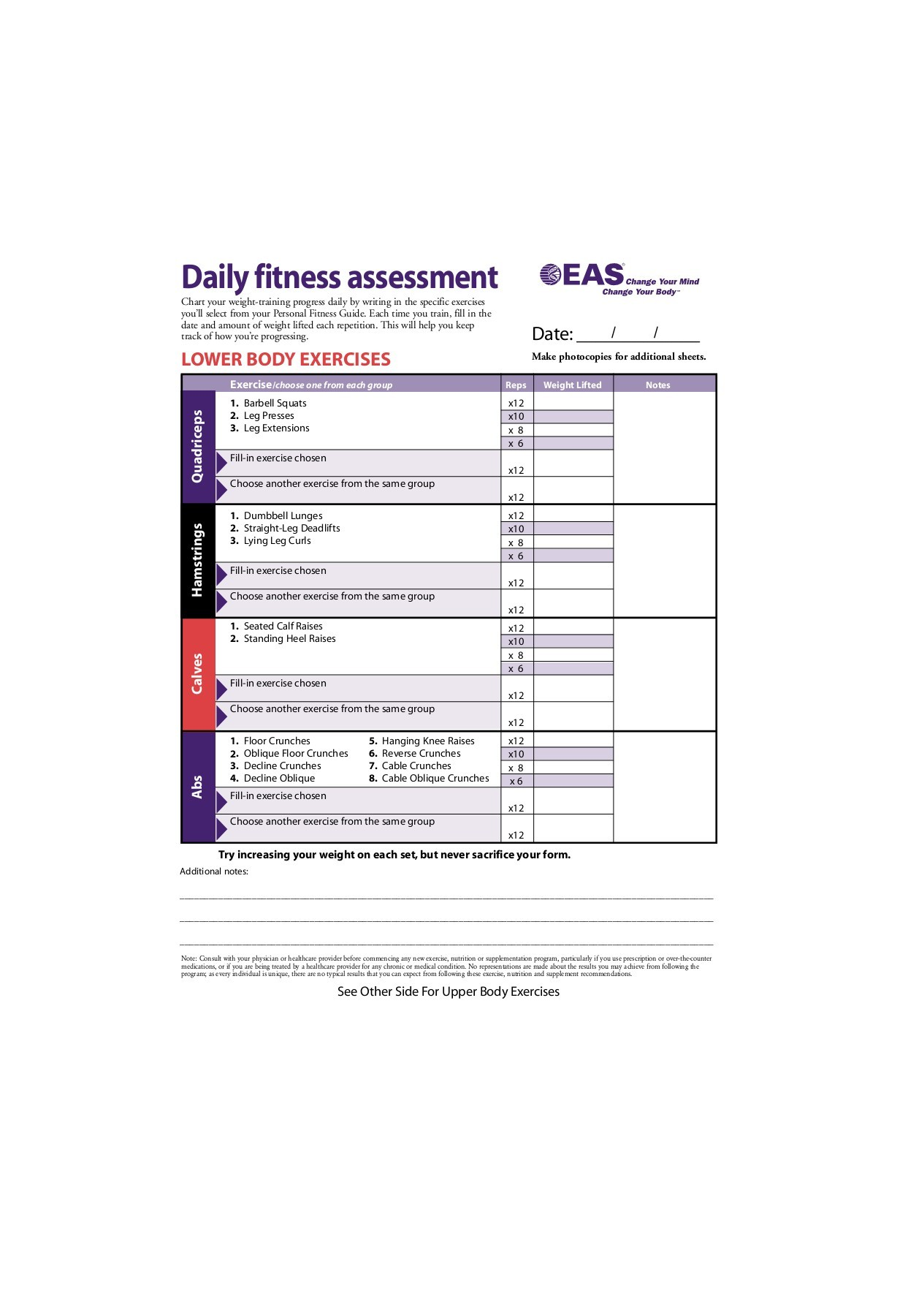 Body For Life Workout Pdf : workout, Daily, Fitness, Assessment, Pages, Download, FlipHTML5