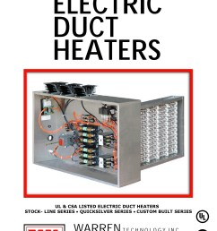 ul csa listed electric duct heaters stock line series  [ 1391 x 1800 Pixel ]