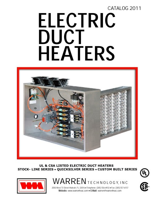 small resolution of ul csa listed electric duct heaters stock line series