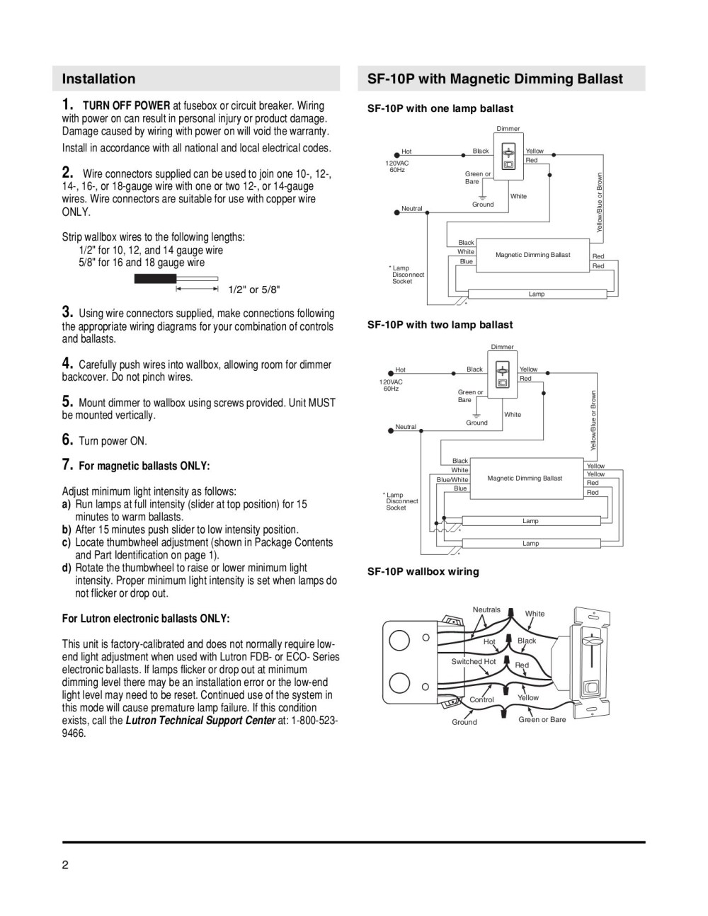 medium resolution of fluorescent dimmers sf 10p sf 103p pages 1 4 text version fliphtml5
