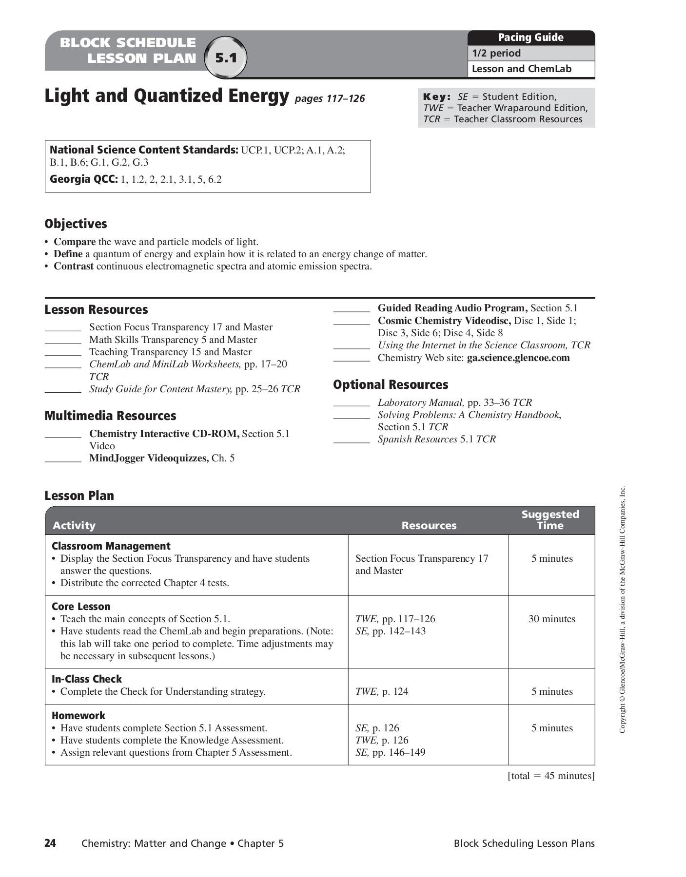 Printables Of Chemistry Worksheet Electrons In Atoms