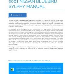 2001 nissan bluebird sylphy manual manualrepo com pages 1 5 text version fliphtml5 [ 1272 x 1800 Pixel ]