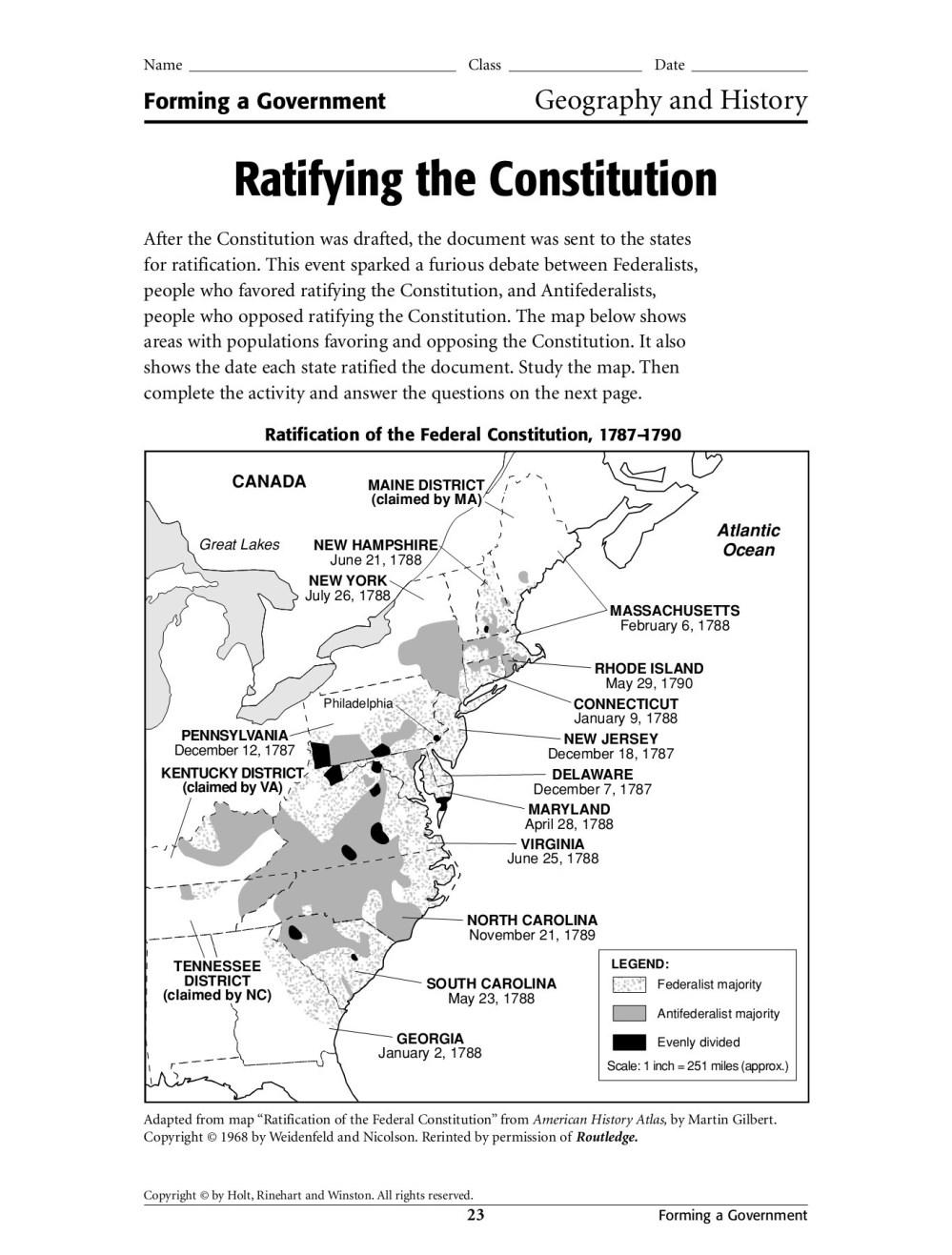 medium resolution of 31 Ratifying The Constitution Worksheet - Worksheet Resource Plans