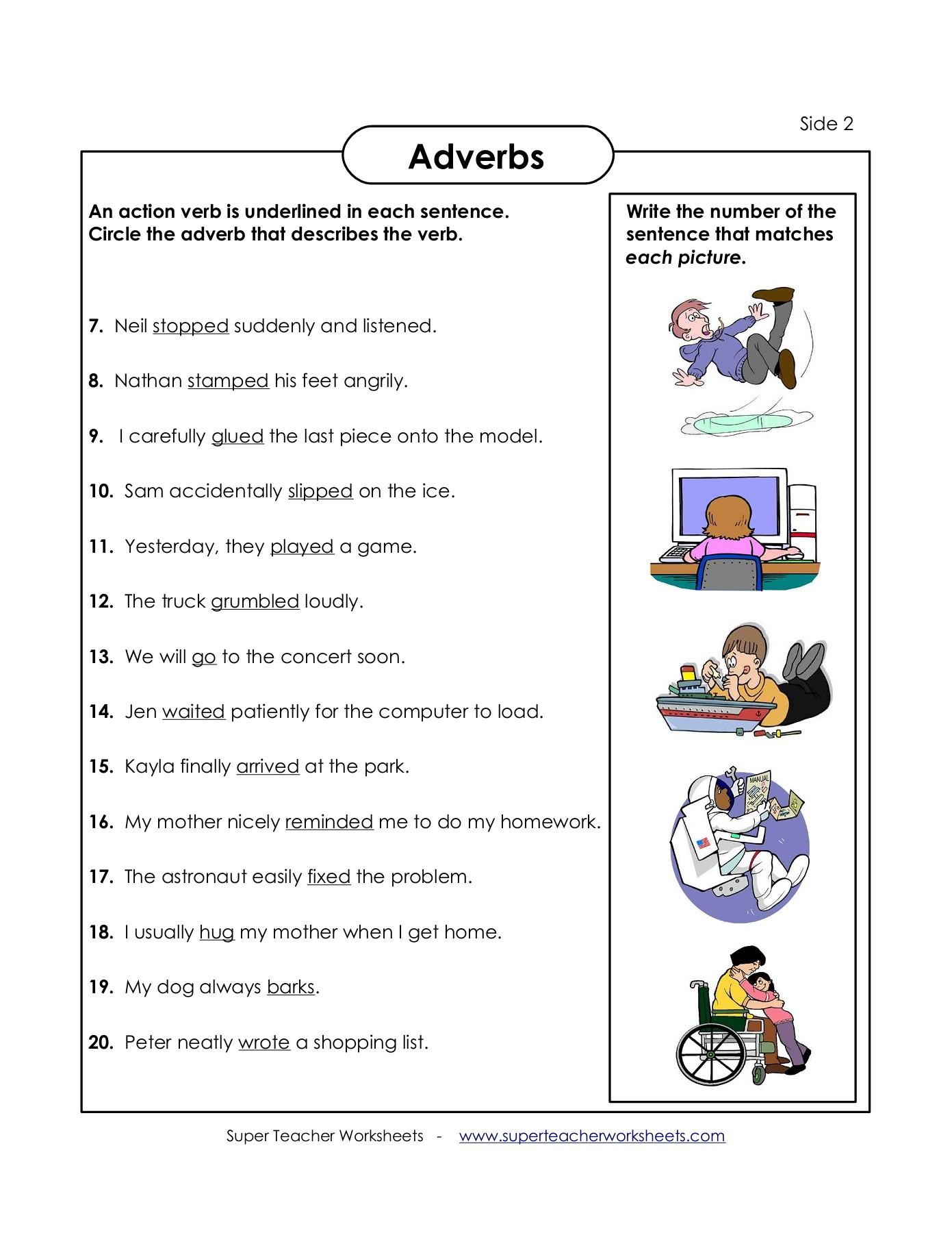 Supper Teacher Worksheets