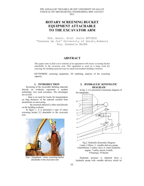 small resolution of rotary screening bucket equipment attachable to the pages 1 4 text version fliphtml5