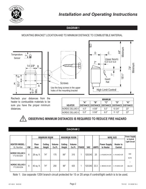 small resolution of  infrared sauna on switch diagrams pinout diagrams installation and operating instructions pages 1 10 text version on switch diagrams