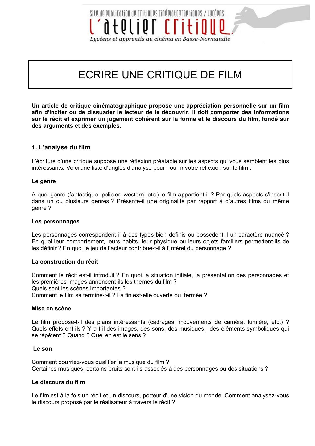 Faire Une Critique De Film : faire, critique, Ecrire_une_critique_de_film, Pages, Download, FlipHTML5