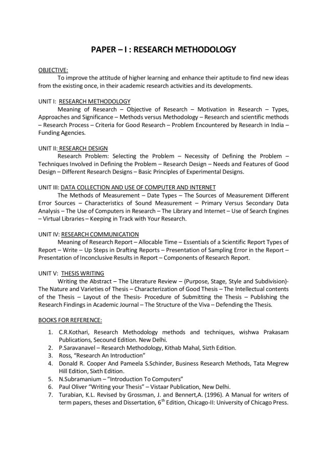 PAPER – I : RESEARCH METHODOLOGY Pages 11 - 111 - Flip PDF Download