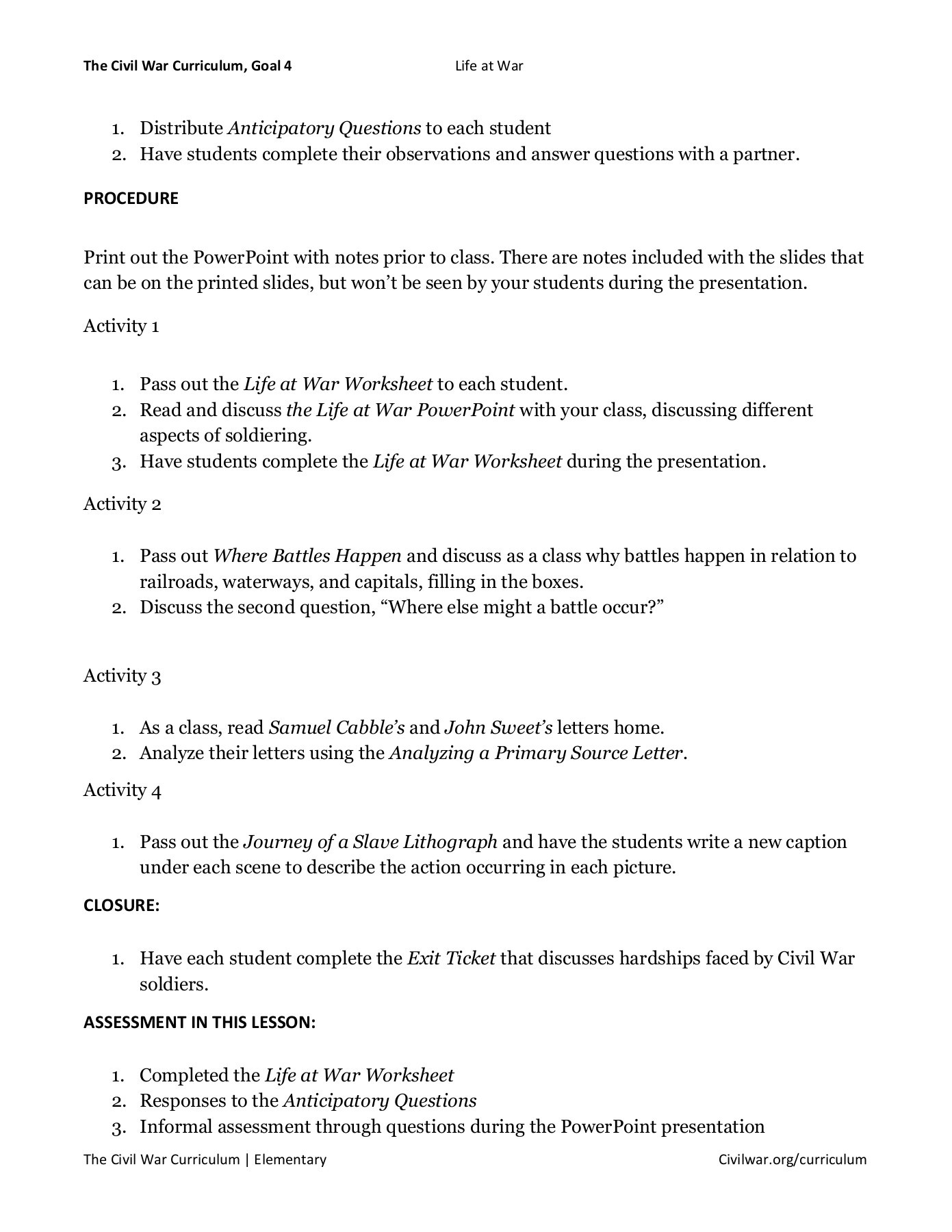 hight resolution of Civil War Worksheet Answers - Nidecmege