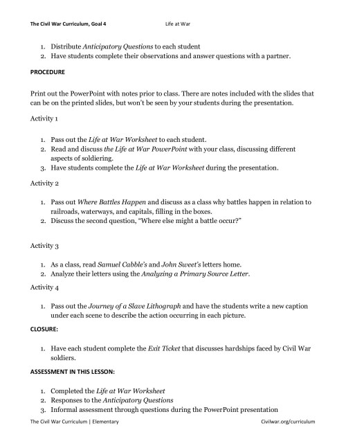 small resolution of Civil War Worksheet Answers - Nidecmege