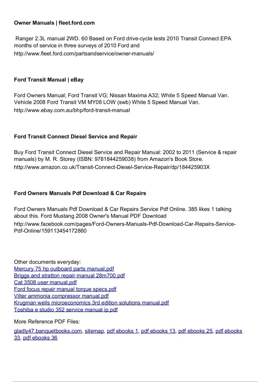 medium resolution of  array 5 ford escape repair manual ebook rh 5 ford escape repair manual ebook abcenterpri