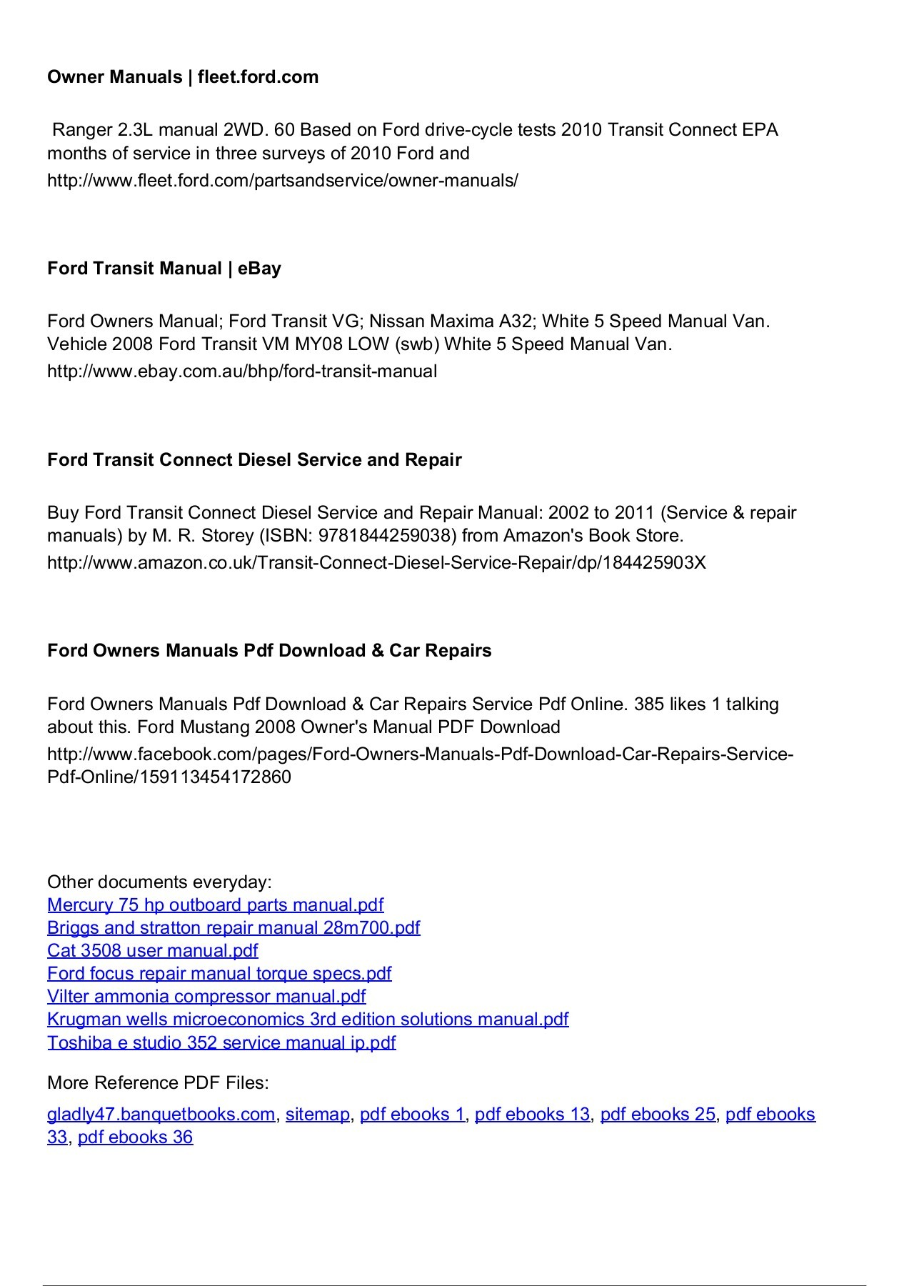 hight resolution of  array 5 ford escape repair manual ebook rh 5 ford escape repair manual ebook abcenterpri