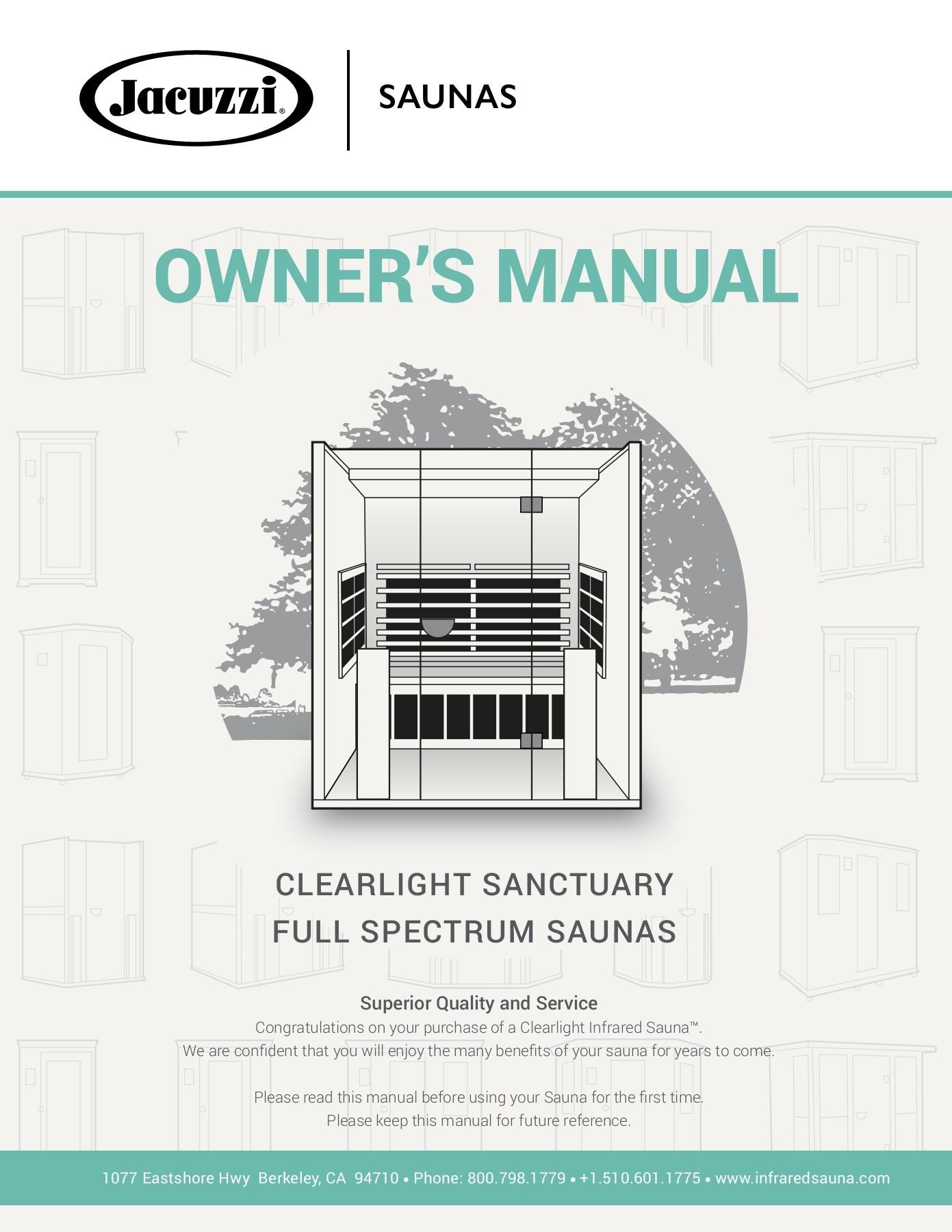 jacuzzi saunas sanctuary owner s manual pages 1 50 text version fliphtml5 [ 1391 x 1800 Pixel ]