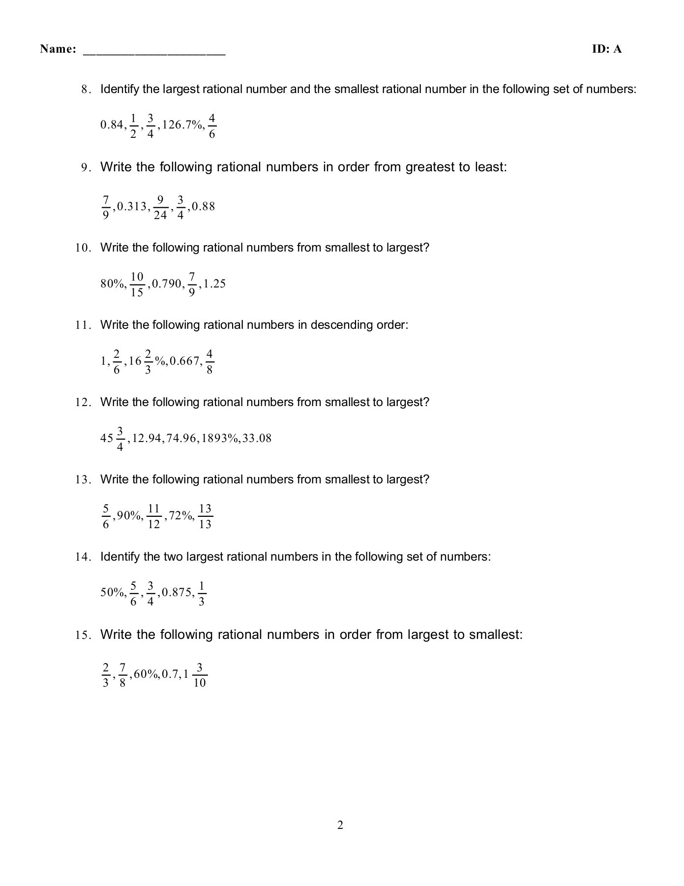 hight resolution of Compare/Convert Practice Worksheet - Math GR. 6-8 - home Pages 1 - 6 - Flip  PDF Download   FlipHTML5