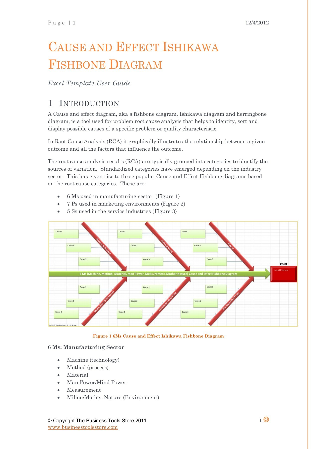 hight resolution of cause and effect ishikawa fishbone diagrams excel template user guide pages 1 5 text version fliphtml5