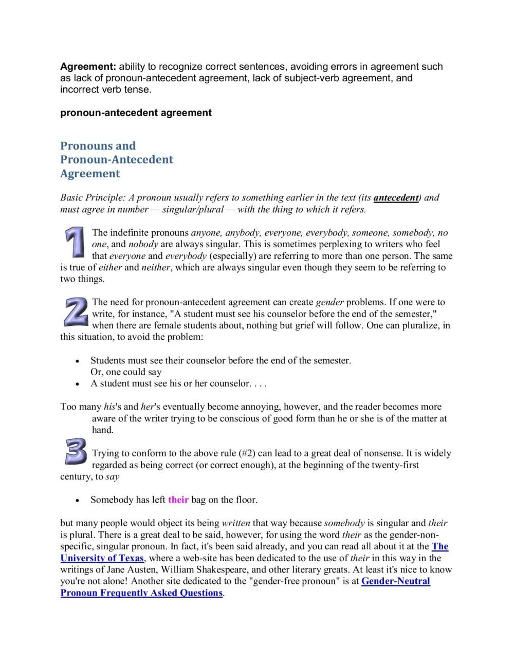 medium resolution of pronoun antecedent agreement for 2021