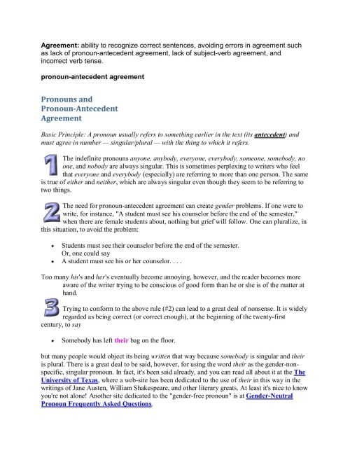 small resolution of pronoun antecedent agreement for 2021