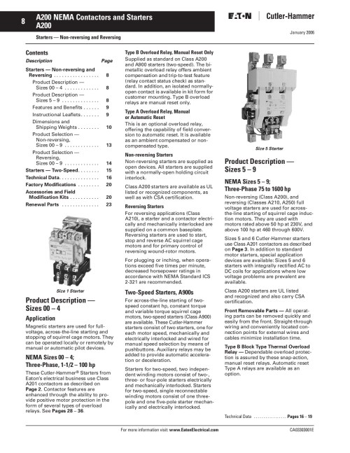 small resolution of 8 a200 nema contactors and starters a200 pages 1 3 text version fliphtml5