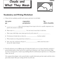 Types Of Clouds Worksheet - Promotiontablecovers [ 1800 x 1391 Pixel ]