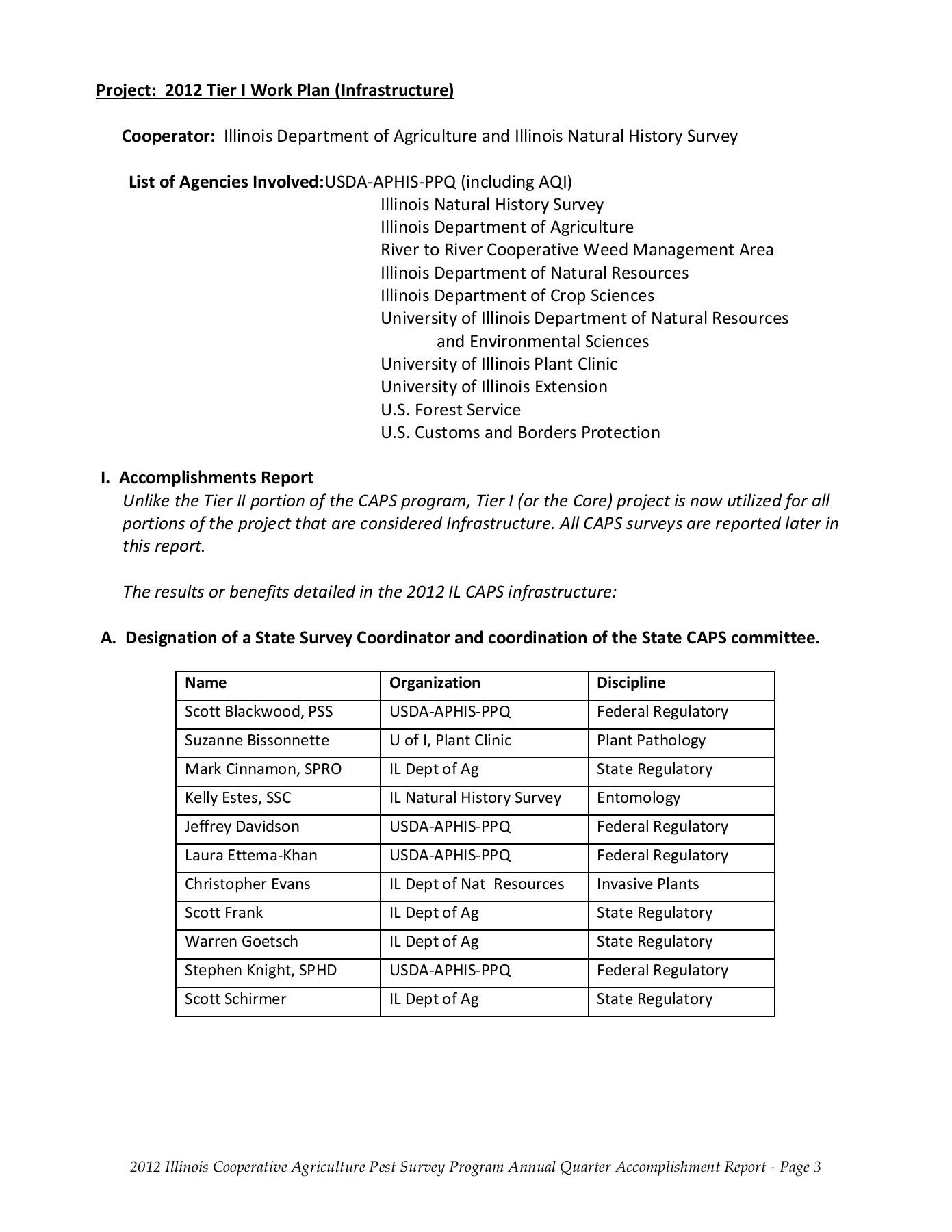 Accomplishment Report Format - Illinois Natural History Survy