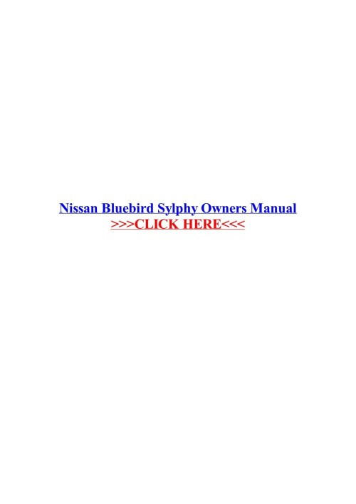 small resolution of nissan bluebird sylphy owners manual veskolblacma pages 1 3 nissan bluebird turbo nissan bluebird sylphy wiring