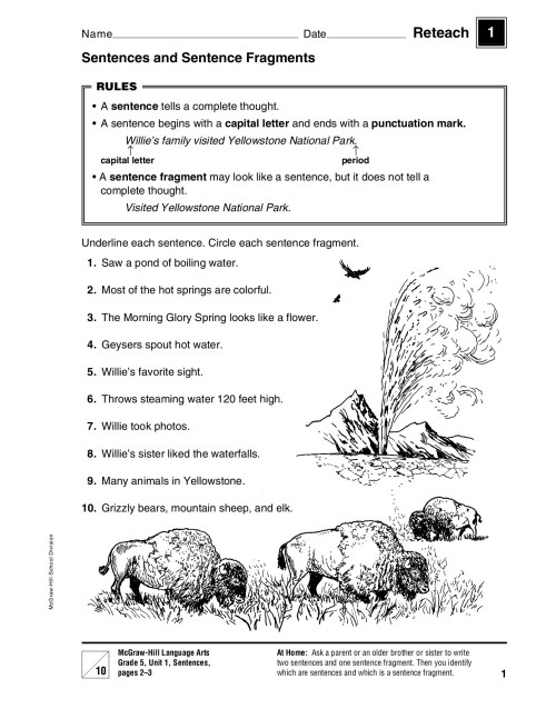 small resolution of Sentences and Sentence Fragments - Macmillan/McGraw-Hill Pages 1 - 50 -  Flip PDF Download   FlipHTML5