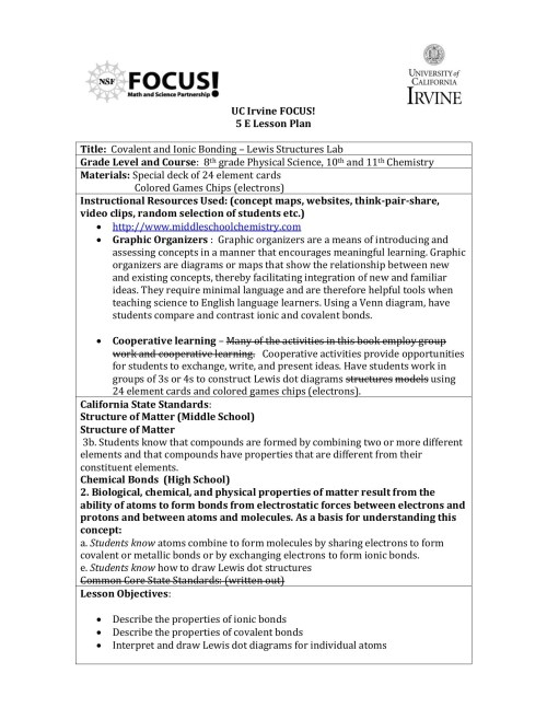 small resolution of uc irvine focus 5 e lesson plan center for educational pages 1 12 text version fliphtml5