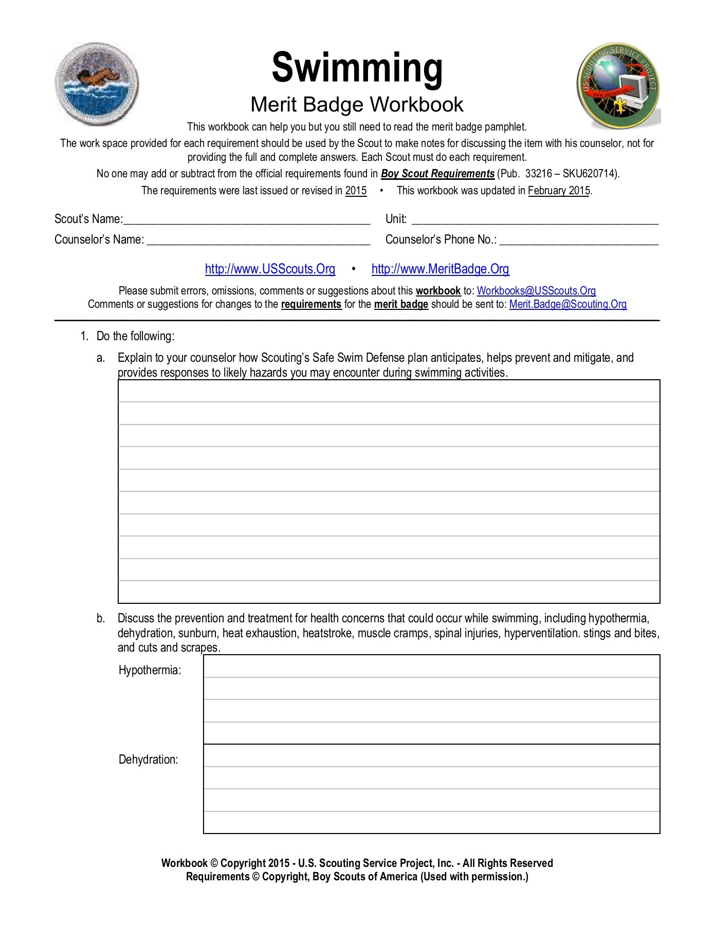 First Aid Merit Badge Worksheet