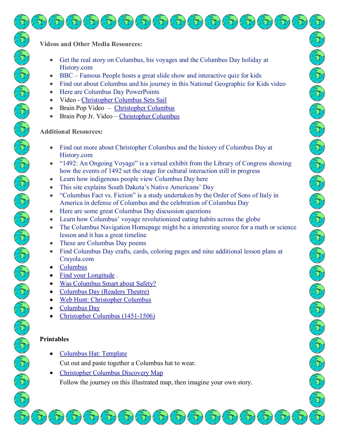 hight resolution of Columbus Day Elementary Resources Pages 1 - 3 - Flip PDF Download    FlipHTML5