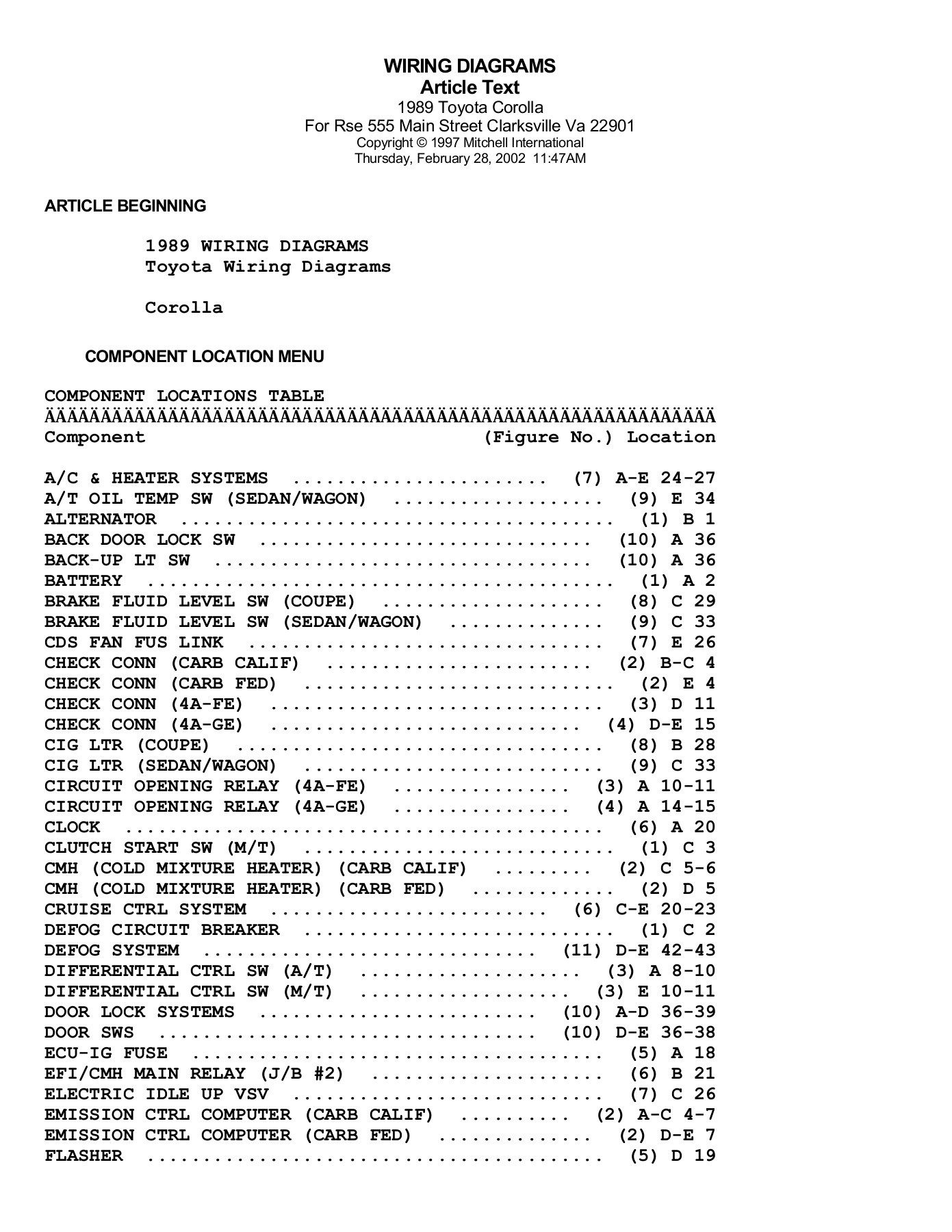 hight resolution of wiring diagrams article text 1989 toyota corolla for rse pages 1 14 text version fliphtml5
