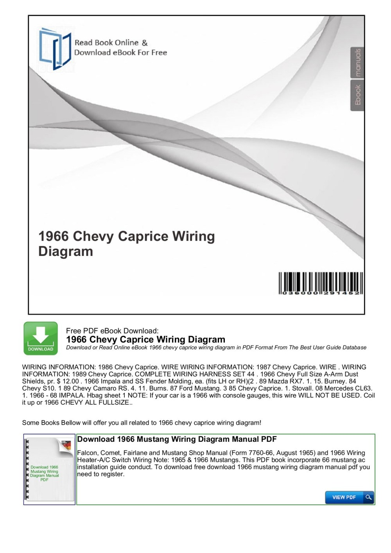 medium resolution of 1966 chevy caprice wiring diagram mybooklibrary com pages 1 7 rh fliphtml5 com 65 impala 66