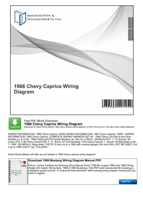 small resolution of 1966 chevy caprice wiring diagram mybooklibrary com pages 1 7 rh fliphtml5 com 65 impala 66