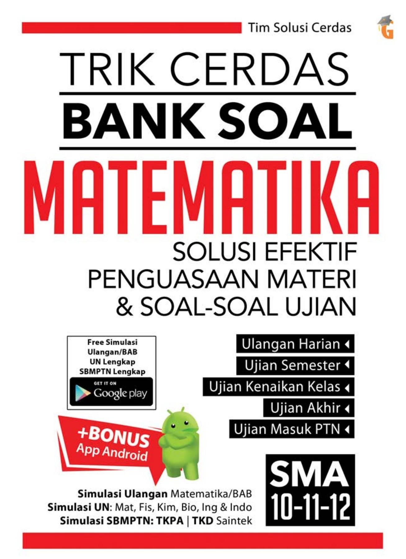 Bank Soal Matematika Sma : matematika, Cerdas, Matematika