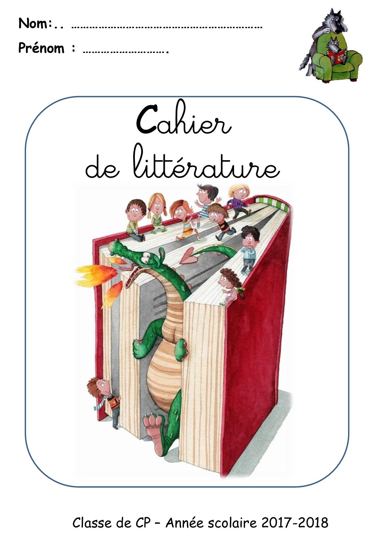Page De Garde Cahier De Littérature : garde, cahier, littérature, PAGE-DE-GARDE-GRANDS-CAHIERS-2016-2017-CP, Flipbook, Roula.zakka, FlipHTML5