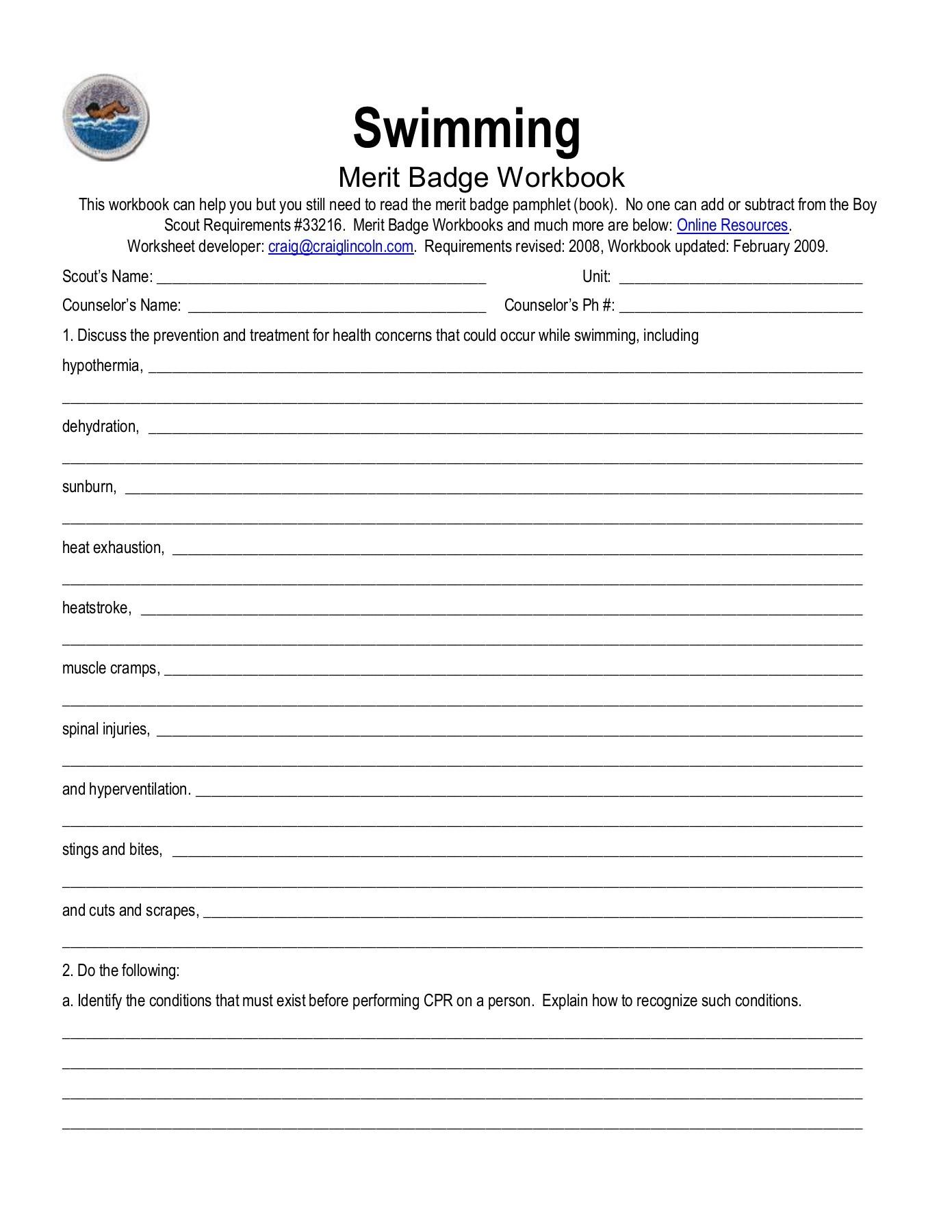 Eagle Gallery Eagle Scout Worksheet