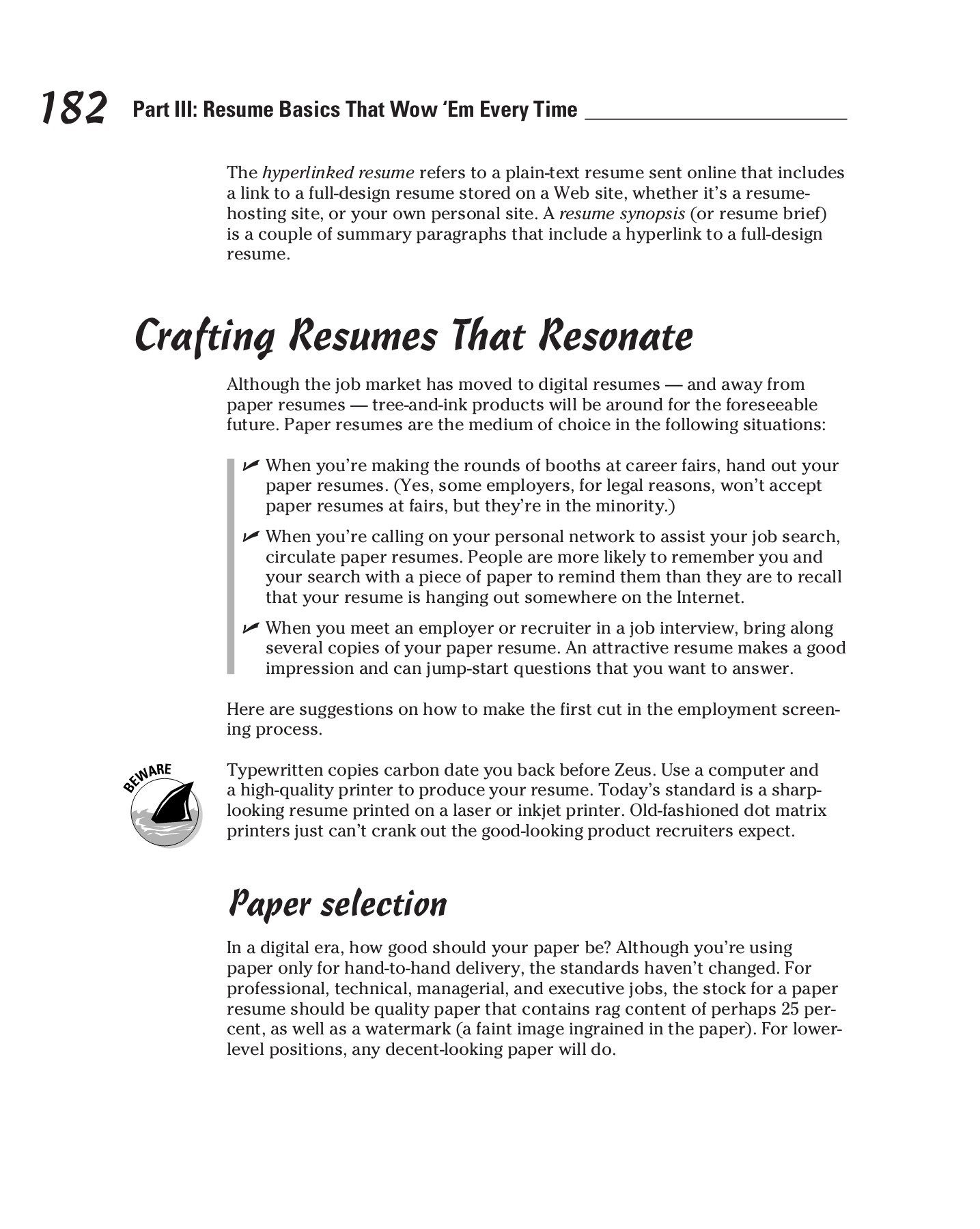 Summary Paragraph Resume Resumes For Dummies Pages 201 250 Text Version Fliphtml5