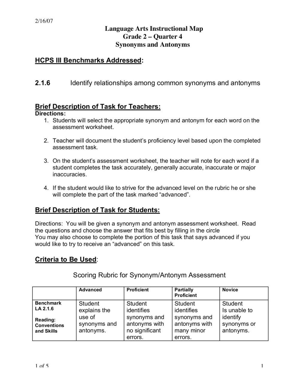medium resolution of 2/16/07 Language Arts Instructional Map Grade 2 ... Pages 1 - 5 - Flip PDF  Download   FlipHTML5