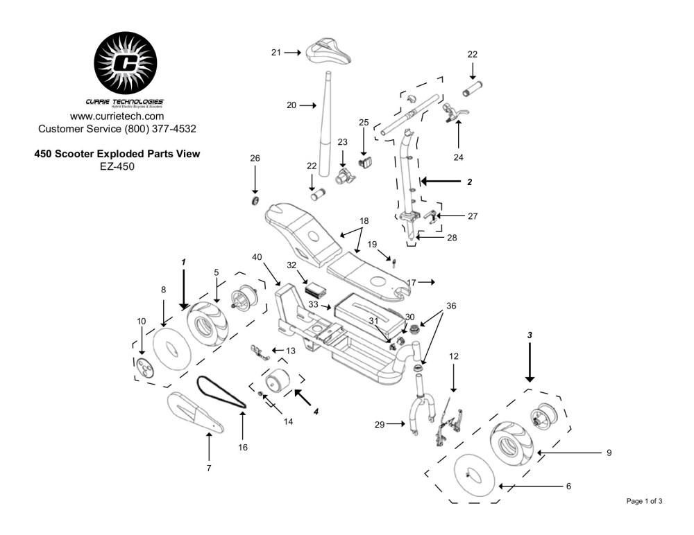 medium resolution of 450 scooter exploded parts view ez 450 currie tech pages 1 3 text version fliphtml5