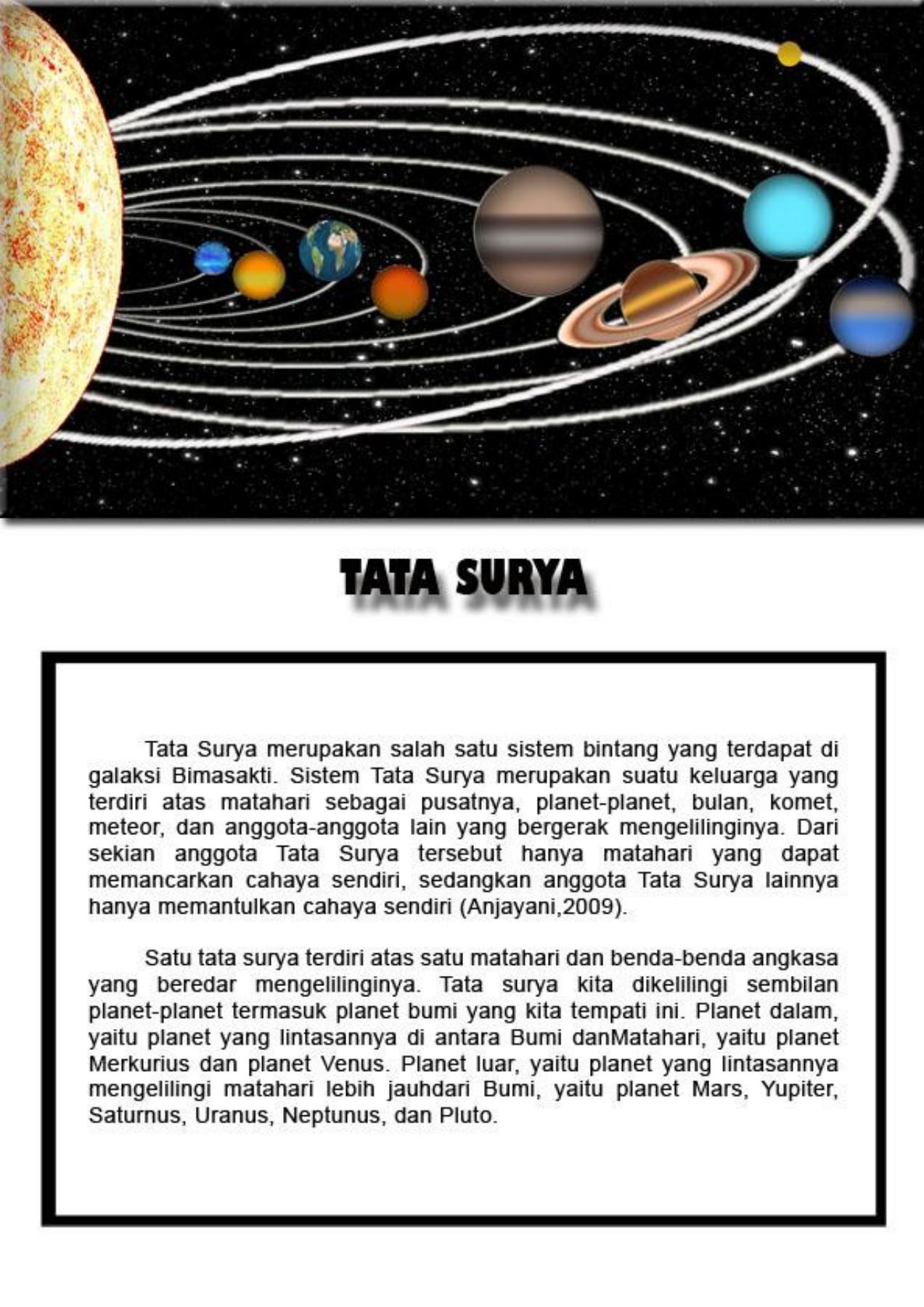 Tata Surya (Pengertian, Sistem, Planet, Gambar)