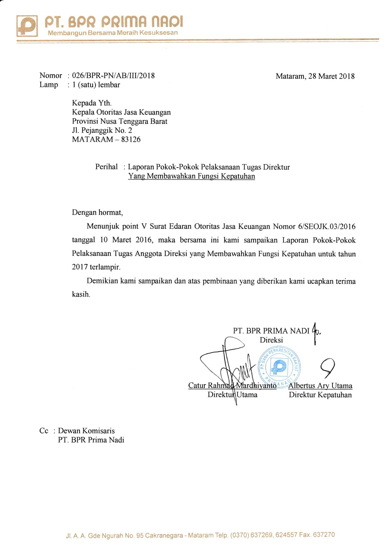 Contoh Surat Laporan : contoh, surat, laporan, Prima-NTB, Official, Homepage, FlipHTML5
