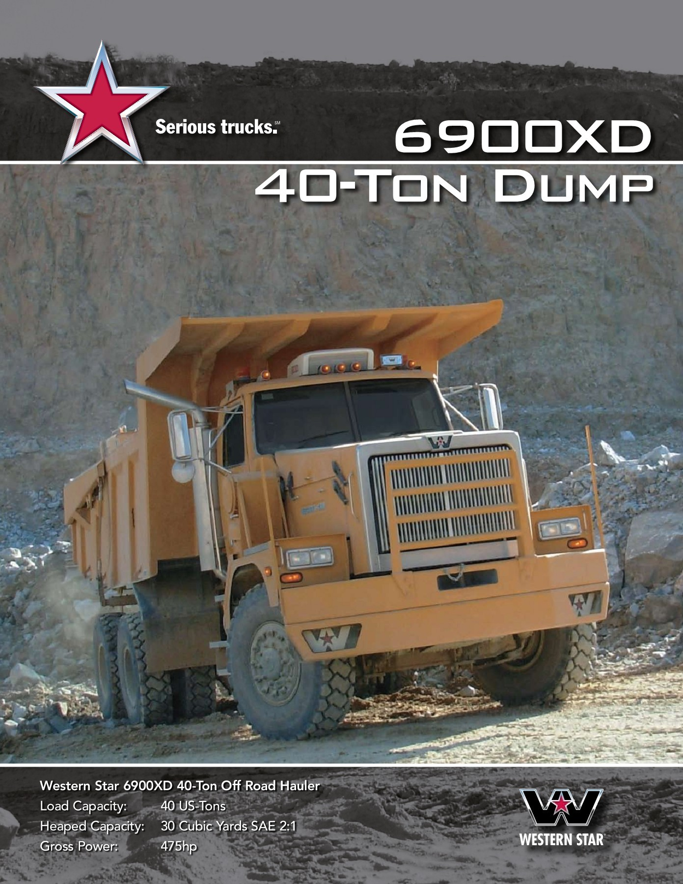 Dump Truck Capacity Cubic Yards : truck, capacity, cubic, yards, 6900XD, 40-Ton, Western, Trucks, Pages, Download, FlipHTML5